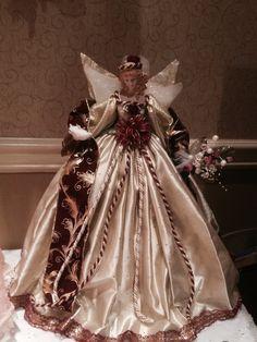 Christmas Angel Decorations, Christmas Tree Toppers, Christmas Angels, Christmas Holidays, Christmas Ornaments, Tree Of Life Bracelet, Glamour Dolls, Angel Crafts, Felt Dolls