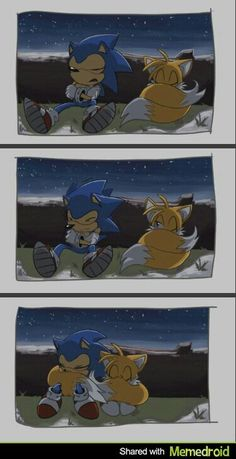 Sonic and Tails, awws.