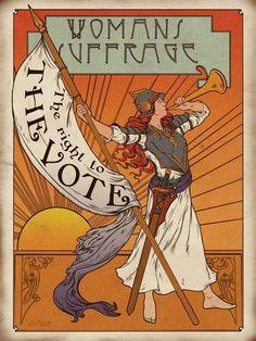 Suffragette propaganda pastiche by Gary Walton for 'Your Family Tree' magazine. Les Suffragettes, Women Suffragette, Political Art, Political Posters, Voting Posters, Political Equality, Suffrage Movement, Right To Vote, Expo