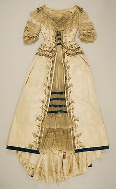 Dress 1895, French, Made of silk