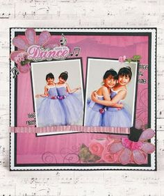 Lovely dance themed scrapbook layout.