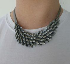 Halsband blad silver www.sparklingthings.se