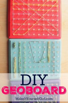 Geoboard, handmade toys, homemade toys, gifts for kids, STEAM