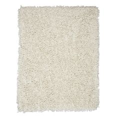 Anji Mountain Silky Shag Ivory Rectangular Indoor Shag Area Rug (Common: 9 x 12; Actual: 9-ft W x 12-ft L)