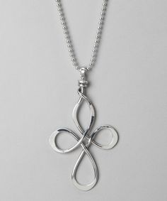 Aluminations Silver Small Cross Pendant Necklace