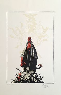 Secret Headquarters Letterpress print by Mike Mignola