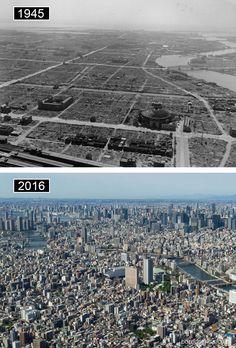 Tokyo, Japon -avant-maintenant