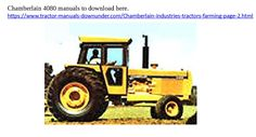 manuals in pdf format available for these tractors here rh pinterest com  chamberlain 4080 parts manual