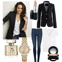 Rachel Zane #SUITS by nina-kradijan on Polyvore featuring James Perse, J.Crew, J Brand, MICHAEL Michael Kors, MAC Cosmetics, Gucci, women's clothing, women's fashion, women and female