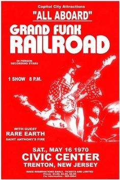 Grand Funk Railroad Concert Poster https://www.facebook.com/FromTheWaybackMachine