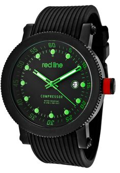 Price:$109.99 #watches Red Line 18001-BB-01GN, An aura of brilliance. This Red Line timepiece glows with its irradiant charm. Its smooth design will intensify anyone's personality.