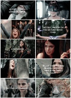 """""""Let's give them something else to remember you by""""    Octavia Blake    The 100    Marie Avgeropoulos"""