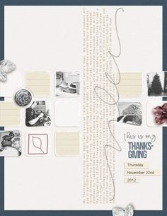 #papercraft #scrapbook #layout  My Thanksgiving - Amy Kingsford