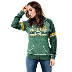 Majestic Green Bay Packers Women's Green Tame The Tide Full Zip Hoodie