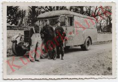 J529 Foto Wehrmacht Ukraine Schytomyr 1943 Beute LKW Bus in Camo Tarn Top   eBay