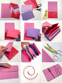 Happy Mail, Book Binding, Mini Albums, Diy And Crafts, Notebook, Crafty, Couture, Knitting, Cards
