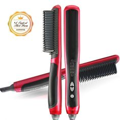 EnPassion Hair Straightener and Curling Brush - no.1 No-Burn Safety Guards Travel Lightweight Styling Tool - For All Hair Types * Review more details here : Travel Hair care