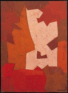 Serge Poliakoff / Composition and orange cyclam