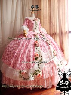 Frilly Dresses, Royal Dresses, Pink Gowns, Ball Gown Dresses, Rococo Fashion, Lolita Fashion, Gowns Of Elegance Goddesses, Beautiful Dresses, Nice Dresses