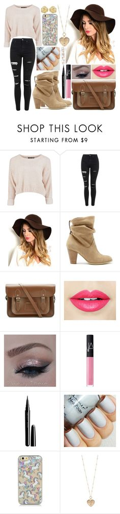 """Unicorns"" by nirataa ❤ liked on Polyvore featuring beauty, Topshop, Sole Society, The Cambridge Satchel Company, Fiebiger, NARS Cosmetics, Marc Jacobs, Betsey Johnson and Effy Jewelry"