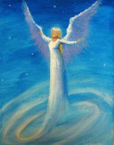 Artist Painting, Painting & Drawing, Gardian Angel, Entertaining Angels, Angel Artwork, Angel Drawing, Angel Pictures, Art Drawings, Canvas Art