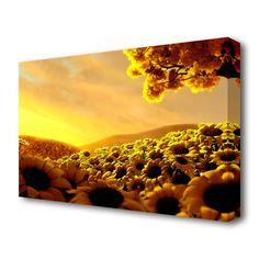 'Sun Flower World Landscape' Photographic Print on Canvas