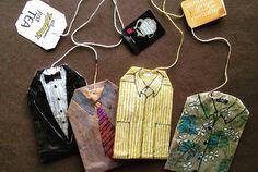 Ruby Silvious decorates a used tea bag each day.