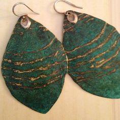 On hold ~~~Earrings Silver verdigris brass on sterling .925 wire hooks Silpada Jewelry Earrings
