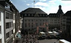 Live camera EU, GER, Bonn, old marketplace in front of town hall Bonn, Germany.