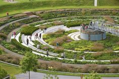Some of the Most Common Landscape Design Features Landscape Stairs, Park Landscape, Urban Landscape, Landscape Design, Garden Design, Architecture Details, Landscape Architecture, Ecology Design, Future Buildings