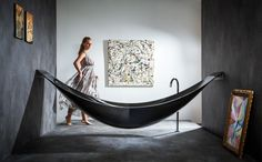 The Art of Relaxation: Bathtub and Hammock Combined by Splinter Works