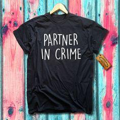 Partner In Crime Best Friends Tee T-shirt Paris London New York Milan Tokyo…
