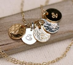 Initial Necklace, Personalized Mothers Necklace, Mother's Necklace, Personalized Necklace, Gold Personalized Necklace, mixed metal