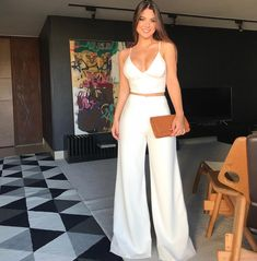 Pin on Look do dia - Outfits - Looks White Outfits, Classy Outfits, Trendy Outfits, Summer Outfits, Summer Dresses, Fiesta Outfit, Mode Chanel, Outfit Trends, Elegant Outfit