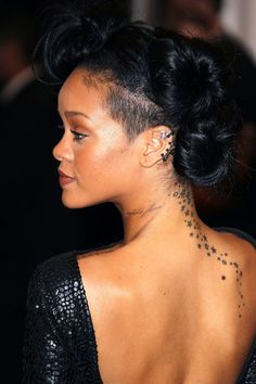 #Rihanna, showing her profile while at the Costume Institute Benefit Gala 2012 at The Met