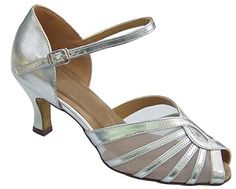 Blue Bell Shoes HANDMADE Womens Ballroom Salsa Wedding Competition Dance Shoes Pauline 25 HeelSilver 85 * Read more  at the image link. (This is an Amazon affiliate link and I receive a commission for the sales and I receive a commission for the sales)