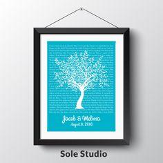Friday Inspiration >>Anniversary Tree. Personalized Art. #solestudio #artwork #handcrafted #prints #anniversarygift