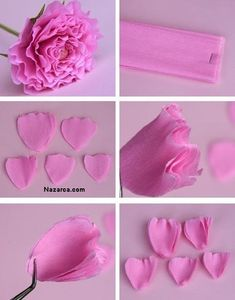 Blumen aus Papier falten - You are in the right place about Paper Flowers backdrop Here we offer you the most beautiful pictures about the Paper Flowers baby shower girl you a Folded Paper Flowers, Crepe Paper Roses, Paper Peonies, Tissue Paper Flowers, Paper Flower Wall, Paper Flower Backdrop, Fabric Flowers, Paper Flower Tutorial, Flower Template