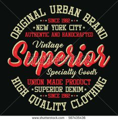 New york city superior denim, authentic and handcrafted typography, t-shirt graphics, vectors