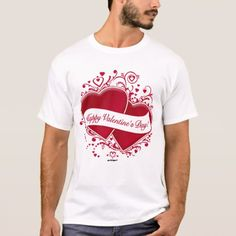 Happy Valentine's Day! Red Hearts T-Shirt - click/tap to personalize and buy