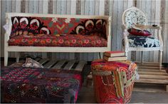 """Gorgeous antique furniture by Bahraini startup, Babushka, based on based on their passion for """"all things old and broken... yet beautiful.""""  Babushka means 'grandmother' in Russian."""