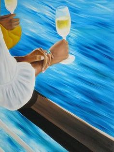 Romantic Paintings, Great Paintings, Seascape Paintings, Canada Cruise, Honeymoon Places, Summer Art, Marcel, Oil On Canvas, Life Is Good
