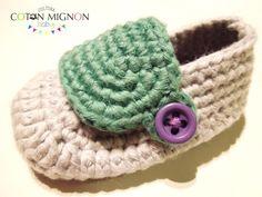 Zapatito bebé crochet cultura coton mignon baby 2
