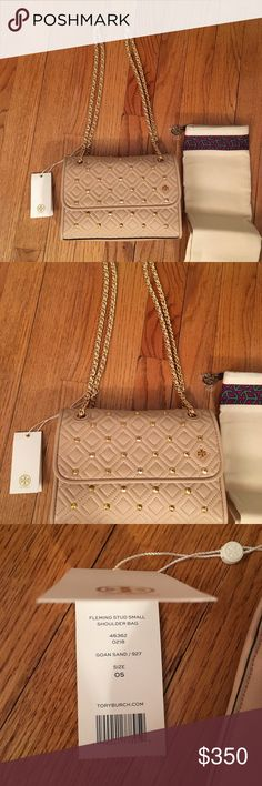 d9071371b9e5 NWT Tory Burch Authentic Fleming Stud Shoulder Bag Our Fleming Stud Small  Convertible Shoulder Bag is