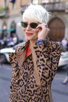 Elisa Nalin. white + leopard
