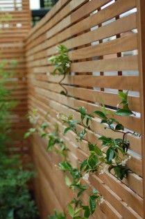 The Garden Trellis Company Galerie Zeitgenössisch Lattenrost - Modern Trellis Fence, Garden Trellis, Garden Fencing, Garden Arbor, Family Garden, Home And Garden, Screened In Deck, Horizontal Fence, Fence Landscaping