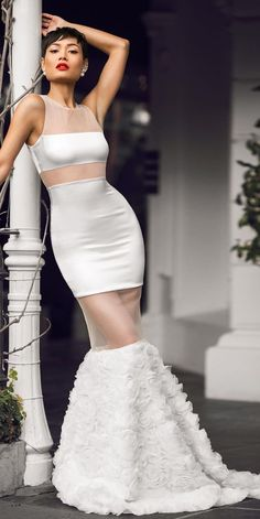 White Special Gown by Micah Gianneli