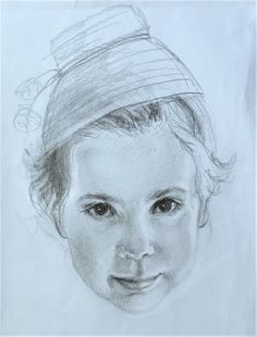 Little girl portrait. Graphite pencil on paper. By Florina Ravariu A4 Paper, Art Studies, Graphite, Colored Pencils, Graphic Art, Little Girls, Charcoal, Paintings, Artist