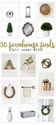 Love farmhouse decor but on a budget? This is such a great collection - 50 different items, all giving you that awesome fixer upper style - but on a budget!