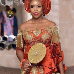 Aso Ebi: Collection of Traditional Aso Ebi Styles African Bridal Dress, African Wedding Attire, African Lace Dresses, Latest African Fashion Dresses, African Print Fashion, Nigerian Wedding Dresses Traditional, Traditional Wedding Attire, Traditional Weddings, African Wear